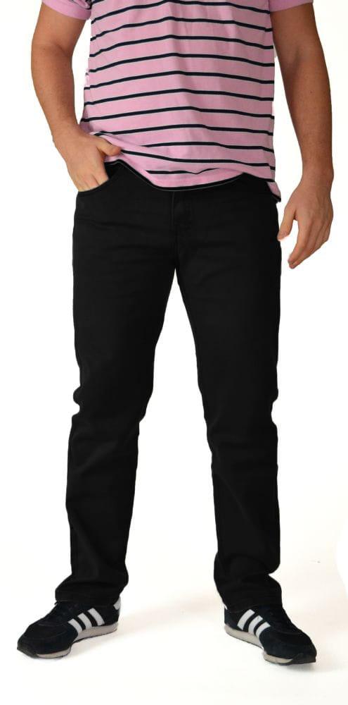 f7ef598b jeansy męskie SAVIL czarne
